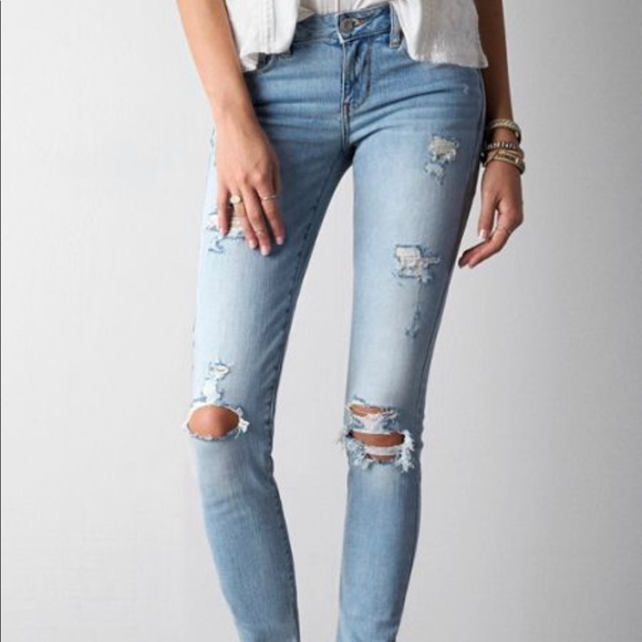 American Eagle Outfitters Denim - AE• Light Distressed Skinny Jean